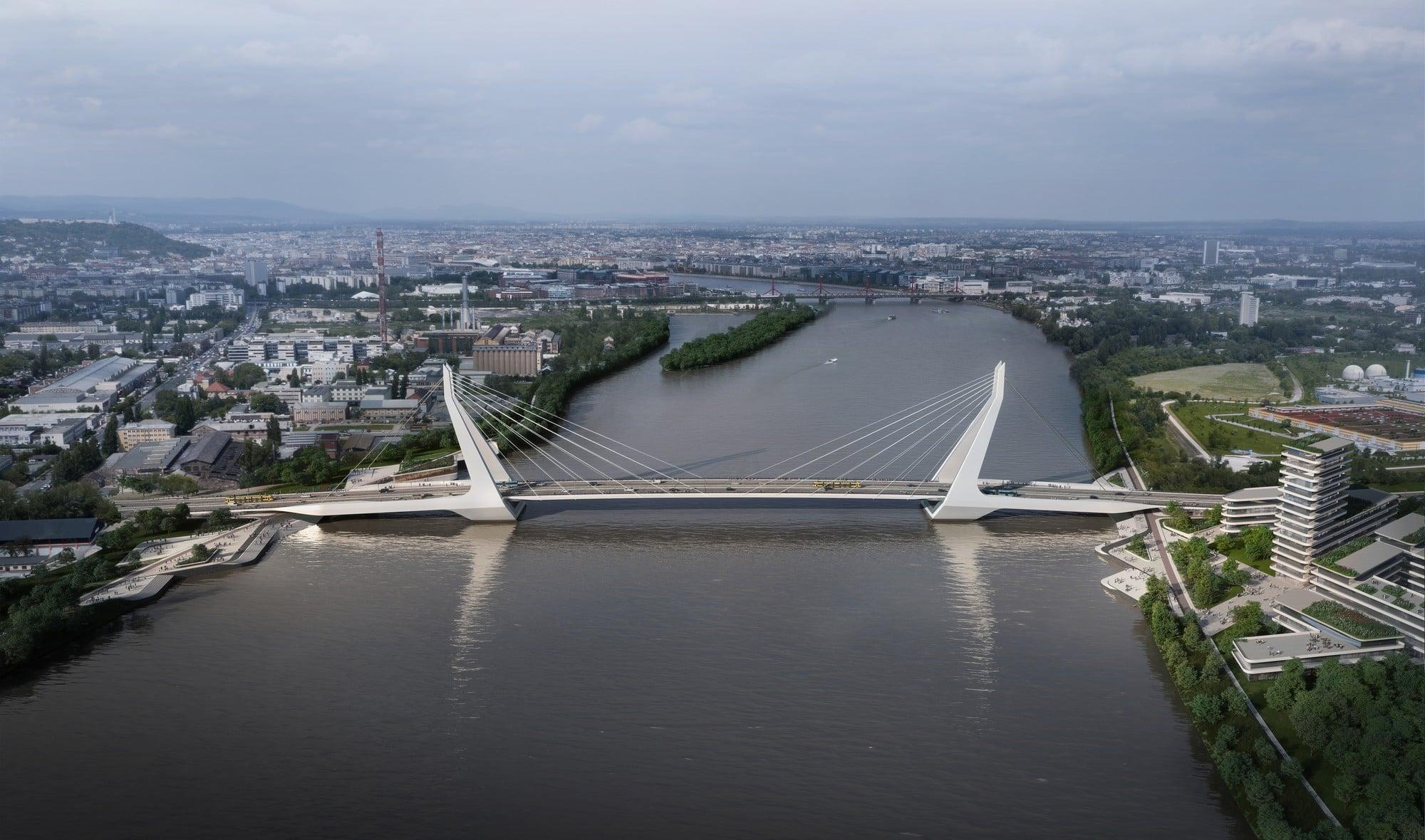 Új Duna-híd côté